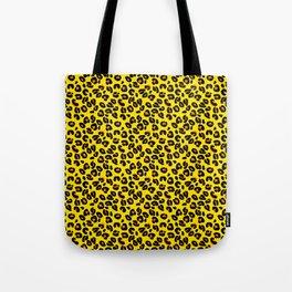Lemon Yellow Leopard Spots Animal Print Pattern Tote Bag