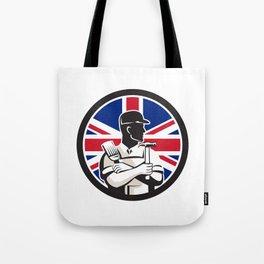 British DIY Expert Union Jack Flag Icon Tote Bag