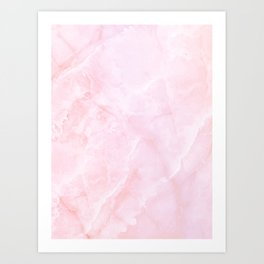 Sugar Pink Marble Art Print