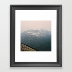 Misty Mountains at Rocky Mountain National Park Framed Art Print
