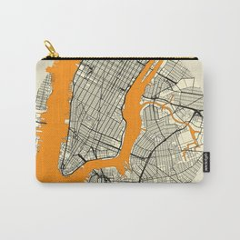 New York Map Moon Carry-All Pouch