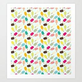 Popsicle Pattern Art Print