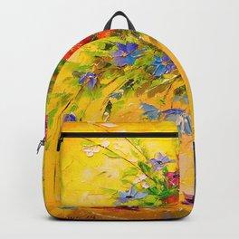 Bouquet of meadow flowers Backpack