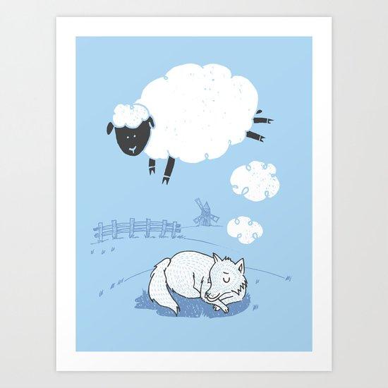 Ssshheep..! Art Print