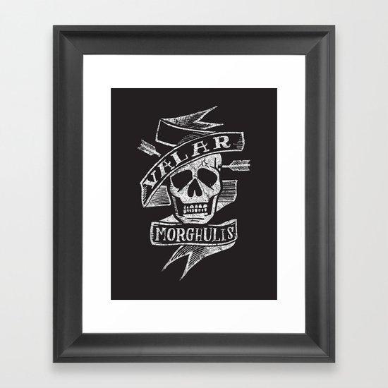 all men must die Framed Art Print
