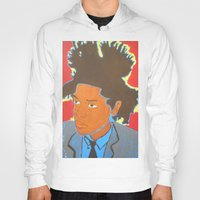 basquiat Hoodies featuring Basquiat by Justice Dwight