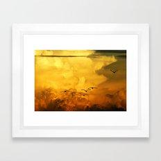 Flight at the Golden Hour Framed Art Print