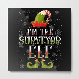 Surveyor Elf Christmas Gift Metal Print