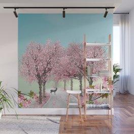 Cherry Blossom Lane Wall Mural