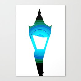Concentric Lamppost  Canvas Print