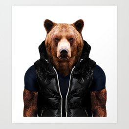 Bolf Bear Art Print