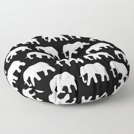 White Elephants on Parade Floor Pillow