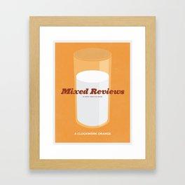 Mixed Review - A Clockwork Orange Framed Art Print