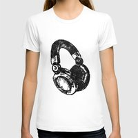 headphones T-shirts featuring Headphones by Fig and Berry Clothing