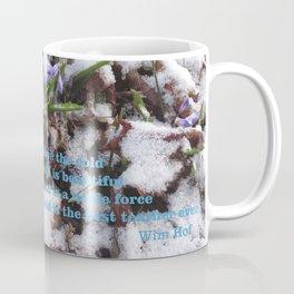 WINTER FLOWERS & Wim Hof quote  Coffee Mug