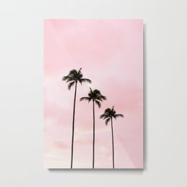 Palm Tree Photography Peach | Blush Pink | Millennial Pink | Miami Metal Print