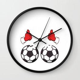 Soccer This Guy Loves Balls Christmas Design For December 25th T-shirt Design Carol Gift Tree Bell Wall Clock