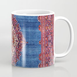 Silk Kashan Central Persian Rug Print Coffee Mug