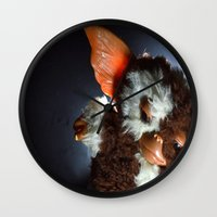 gizmo Wall Clocks featuring Gizmo  by Erika VBL