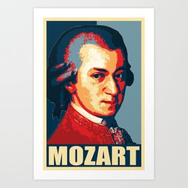 Mozart Propaganda Poster Pop Art Art Print