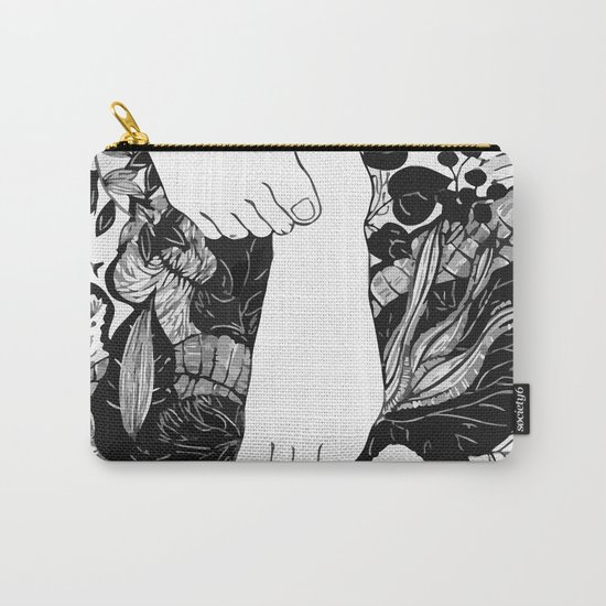 FLOWER FOOTERS Carry-All Pouch