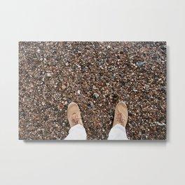 Pebbles at my feet Metal Print