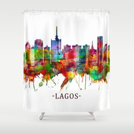 Lagos Nigeria Skyline Shower Curtain