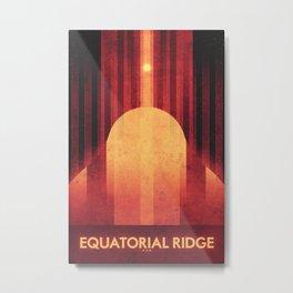 Pan -Equatorial Ridge Metal Print
