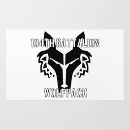 104th Battalion Wolfpack Rug