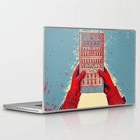budapest hotel Laptop & iPad Skins featuring GRAND BUDAPEST HOTEL COLOR by Oleol