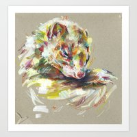 ferret Art Prints featuring Ferret IV by Nuance