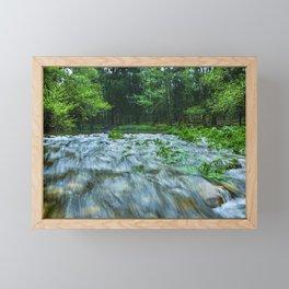 Mountain river Framed Mini Art Print