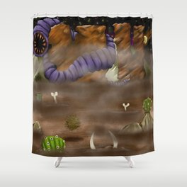 Beware the Desert Shower Curtain