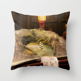 The Long Journey Throw Pillow