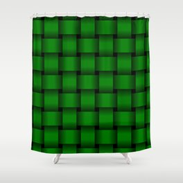 Large Green Weave Shower Curtain