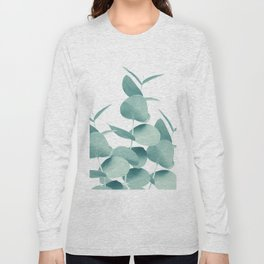 Eucalyptus Leaves Green White #1 #foliage #decor #art #society6 Long Sleeve T-shirt