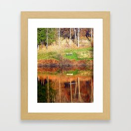 Water reflections on the river | waterscape photography Framed Art Print