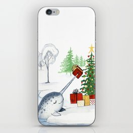 Christmas Narwhal iPhone Skin