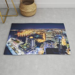 1719 Voyeuristic Vancouver Cityscape Space Craft - Waterfront Convention Center Gastown BC Canada Rug