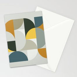 Mid Century Geometric 13 Stationery Cards