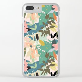 Tropicana Pastel Clear iPhone Case