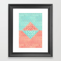 Retro Optical Fantasia Framed Art Print