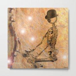 Monsieur Bone deep in meditation Metal Print