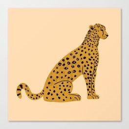 Sitting Leopard, Leopard Print, Leopard Art, Leopard Drawing, Leopard Illustration Canvas Print