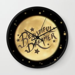Beautiful Dreamer Wall Clock
