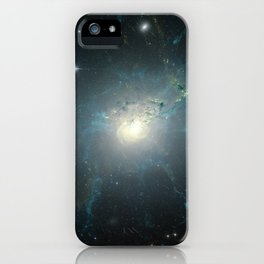Dusty spiral galaxy iPhone Case
