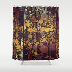 Enchanted Autumn -- Painterly Abstract Fall Color Magic Shower Curtain