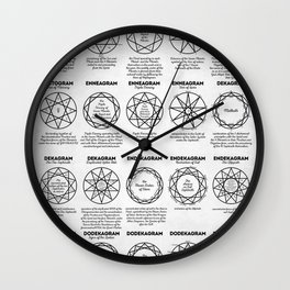 Pentagrams Wall Clock