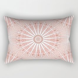 Blush Apricot Mandala Rectangular Pillow
