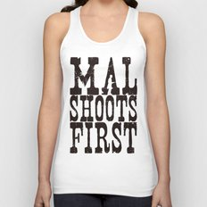 Mal Shoots First Unisex Tank Top